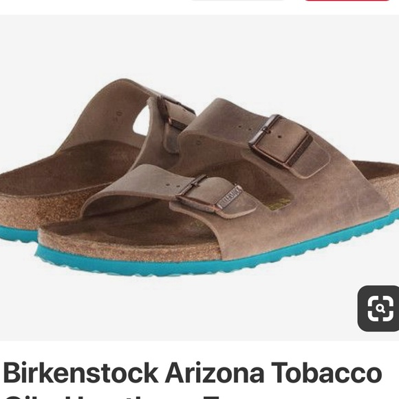 ccaeb69008b5 Birkenstock Shoes - Birkenstock Arizona Tobacco Tan with Teal Sole 38
